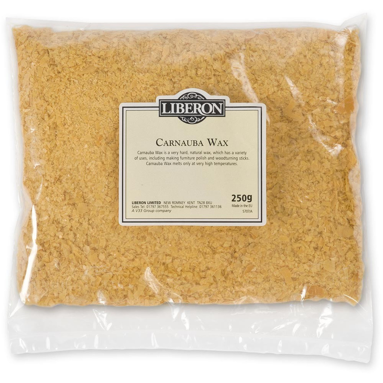 Liberon Carnauba Wax  Flakes 250g