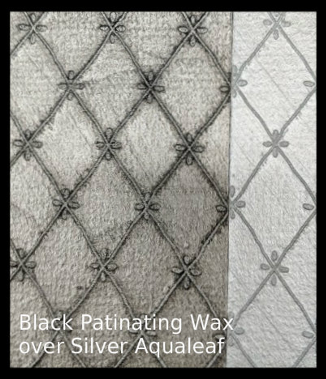 Black Patinating Wax over Silver Aqualeaf