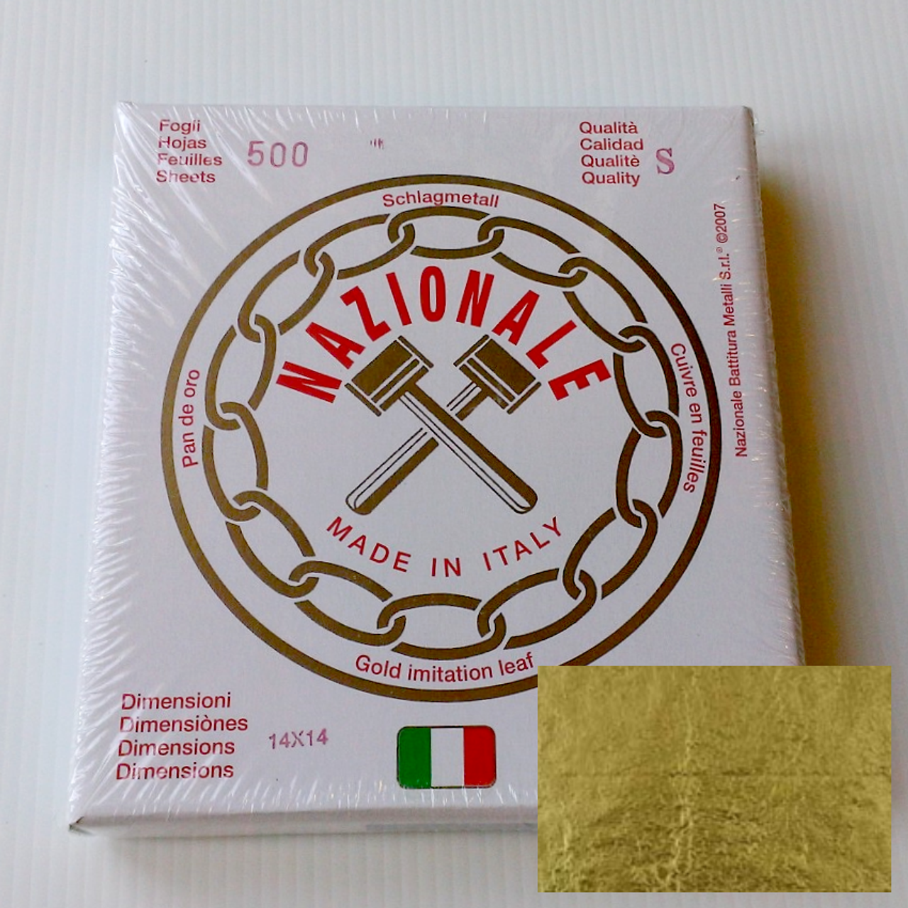 Nazionale Composition Gold Leaf 5.5-Inch by 5.5-Inch