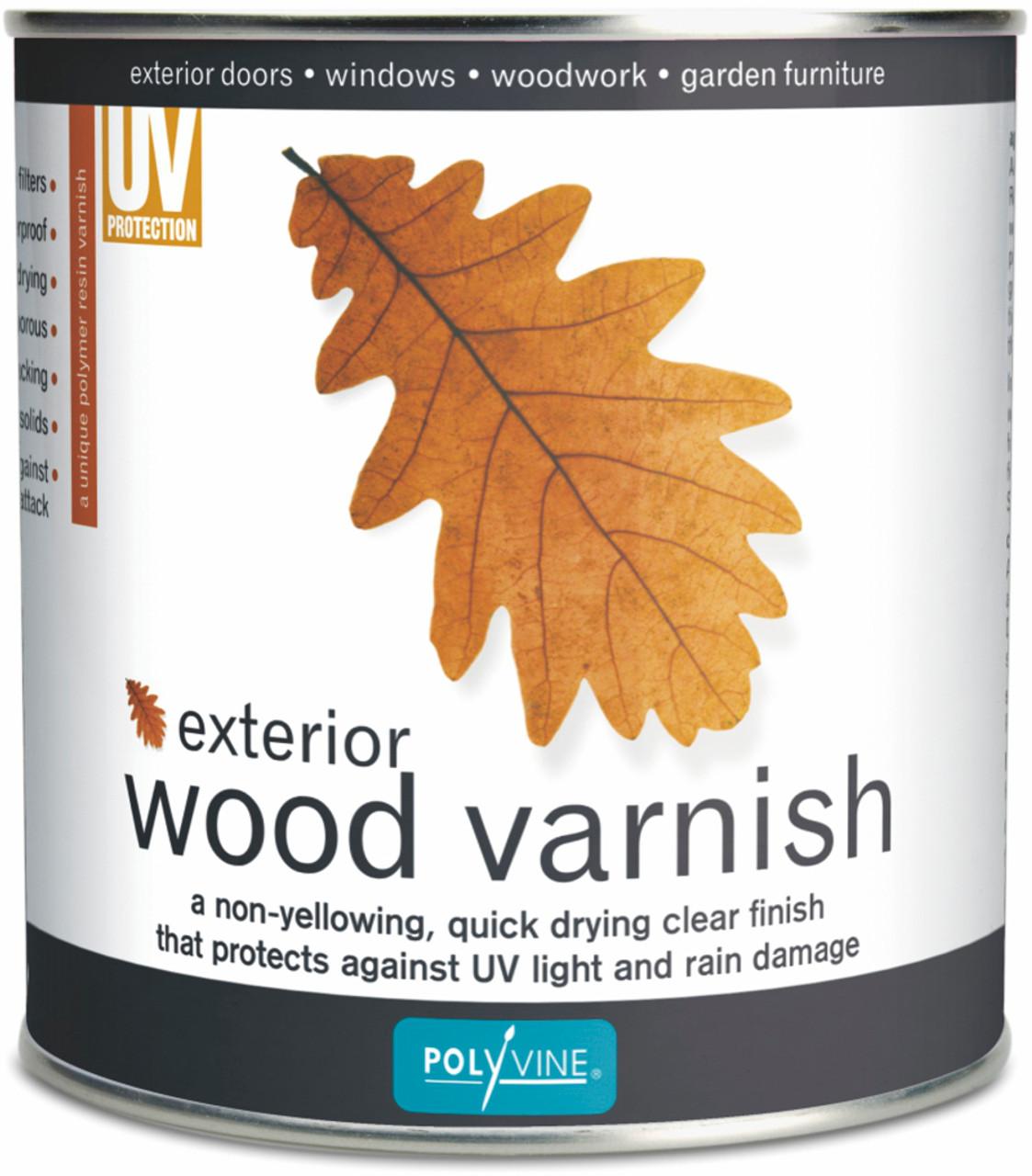 Polyvine Exterior Wood Varnish Clear Dead Flat