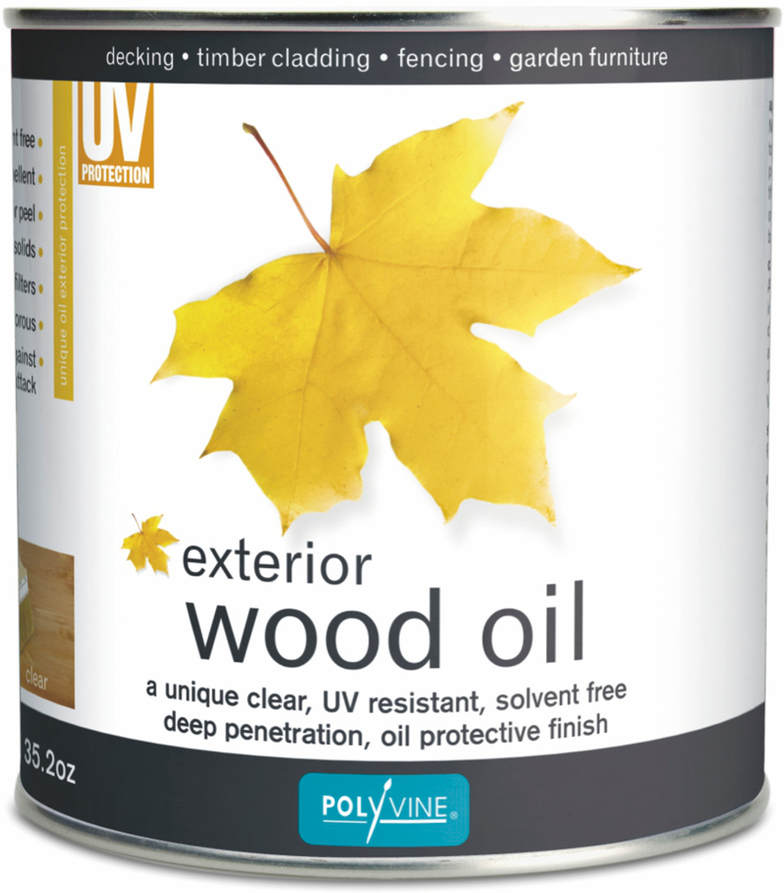 Polyvine Exterior Wood Oil - Translucent Finish
