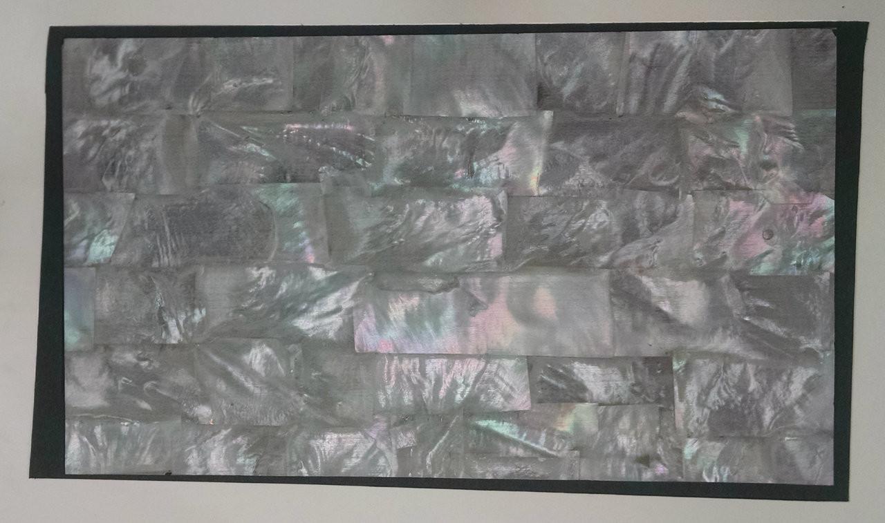 White Mother of Pearl Strip on dark ground, full sheet