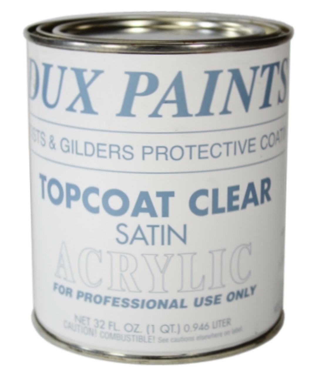Topcoat Clear Satin, One Quart