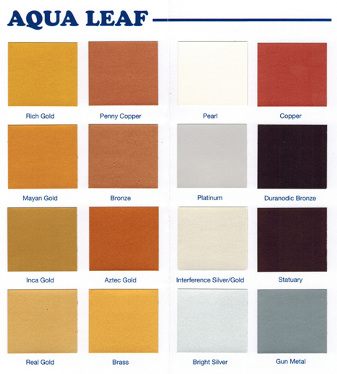 Ronan Aqua Leaf Colors