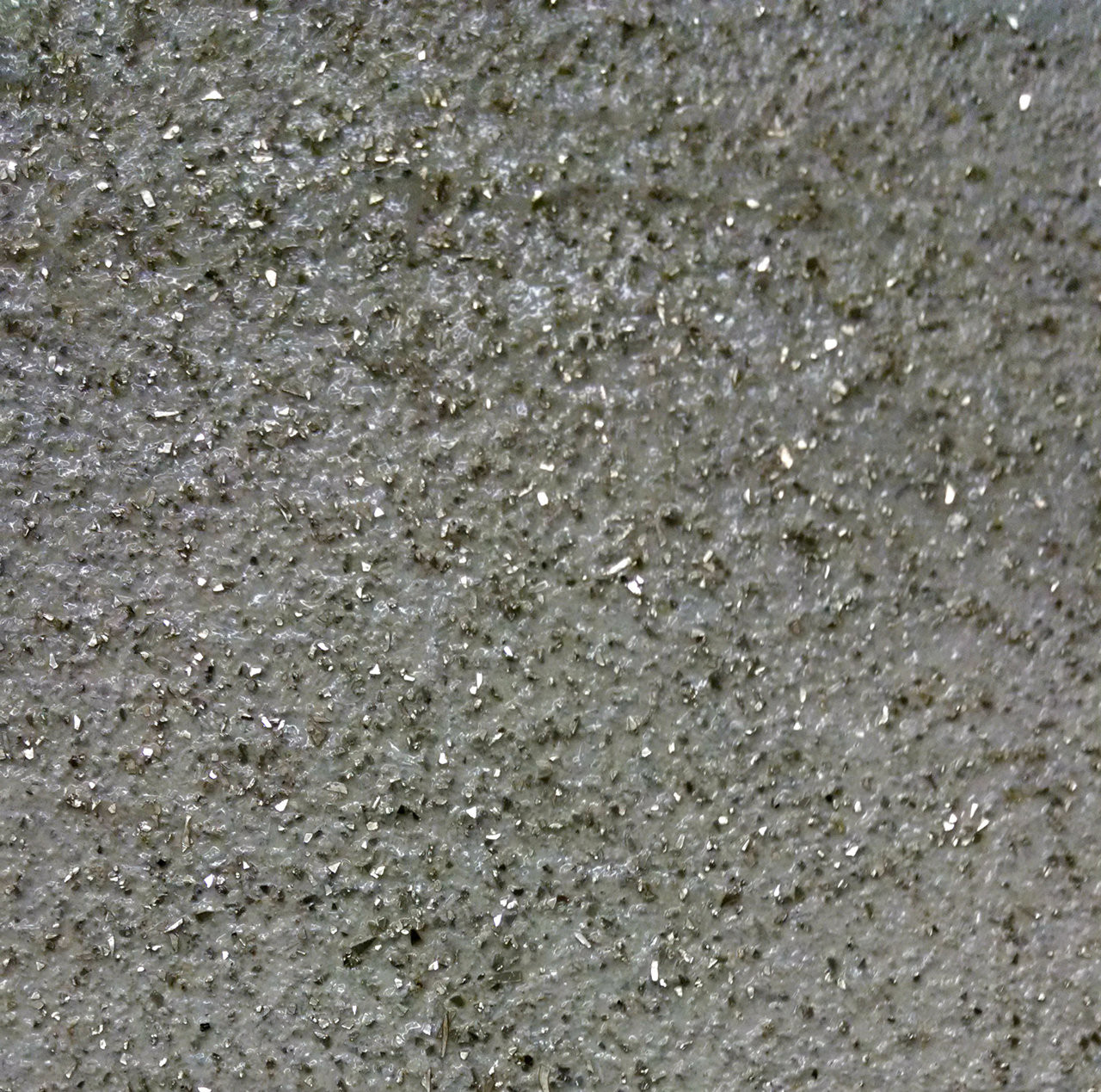 Sharded Glass Silver in Pro Line Glazing Gel over Life Style Weathered Granite