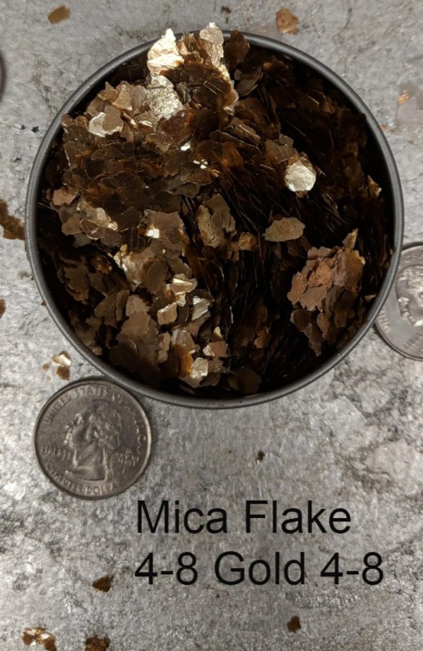 Mica Flake Gold, 4-8 Copper