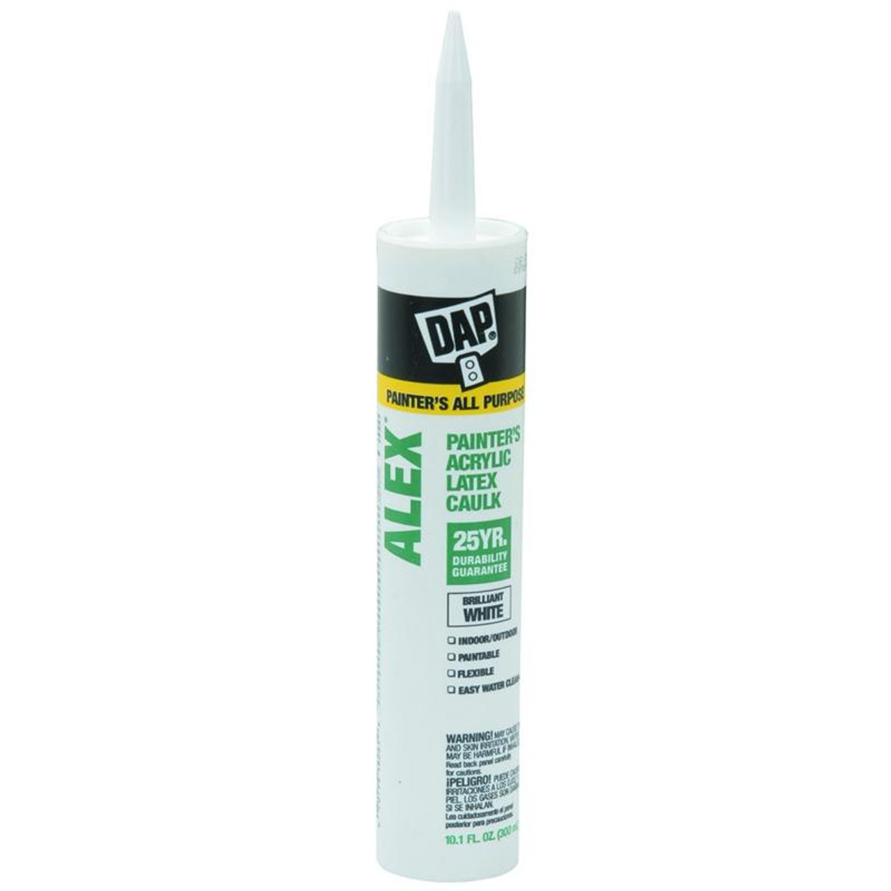 DAP 10.1 oz White Alex Painters Acrylic Latex Caulk 25 Year