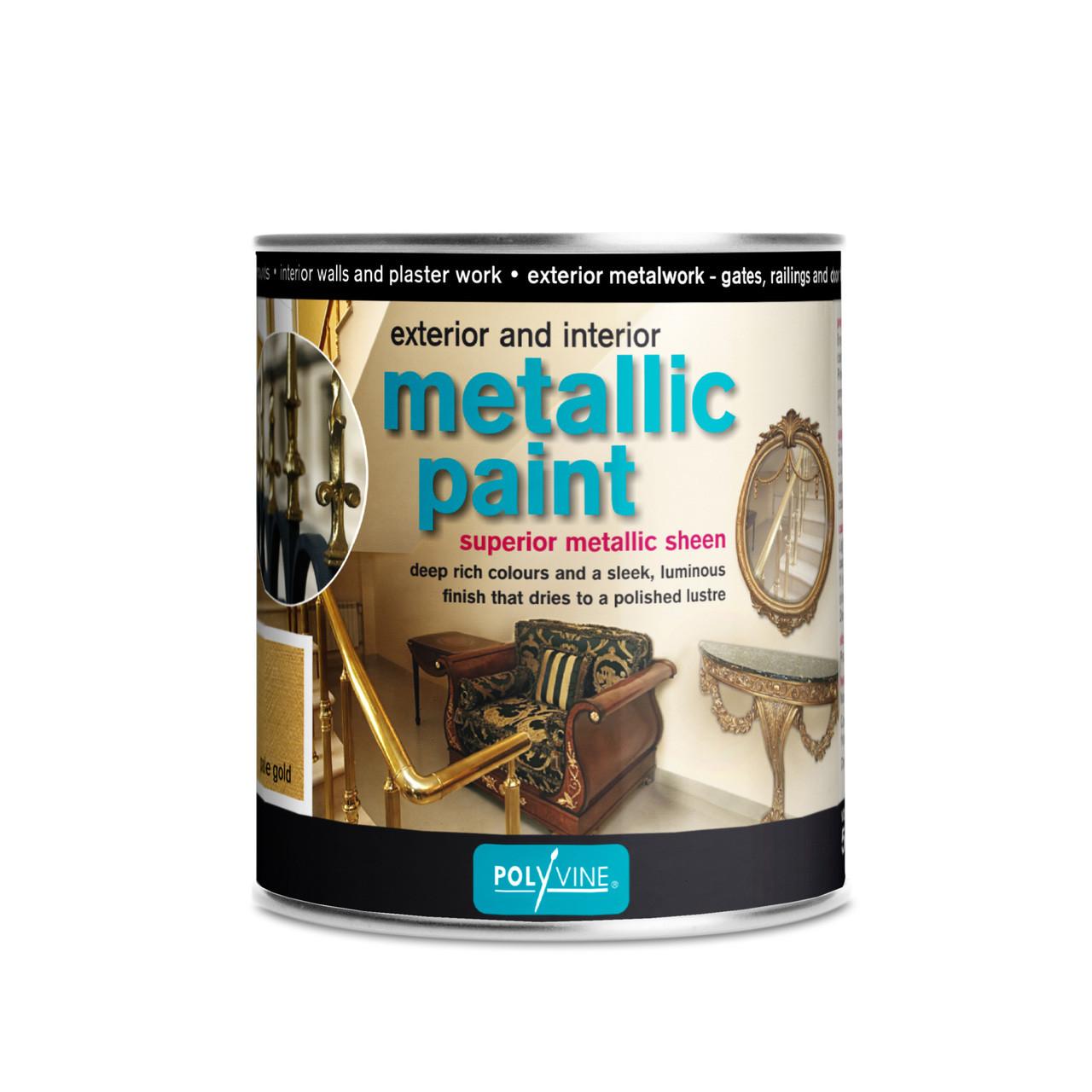 Polyvine Interior Exterior Metallic Paint Antique Gold