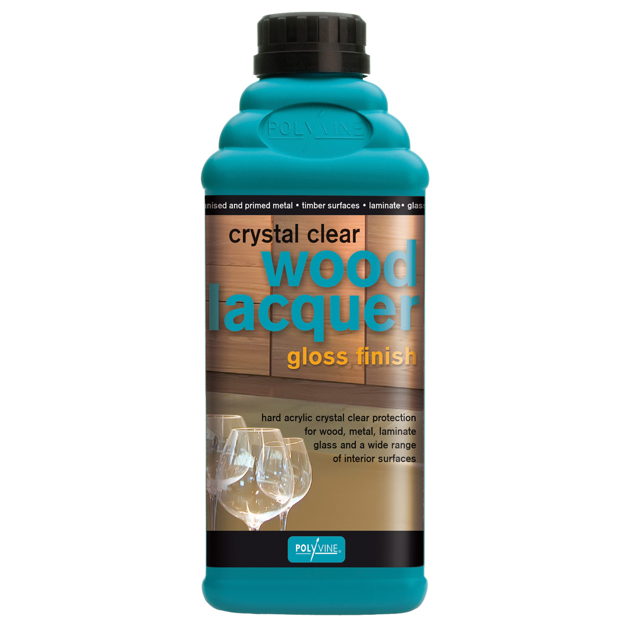 Polyvine Crystal Clear Lacquer - Gloss Finish