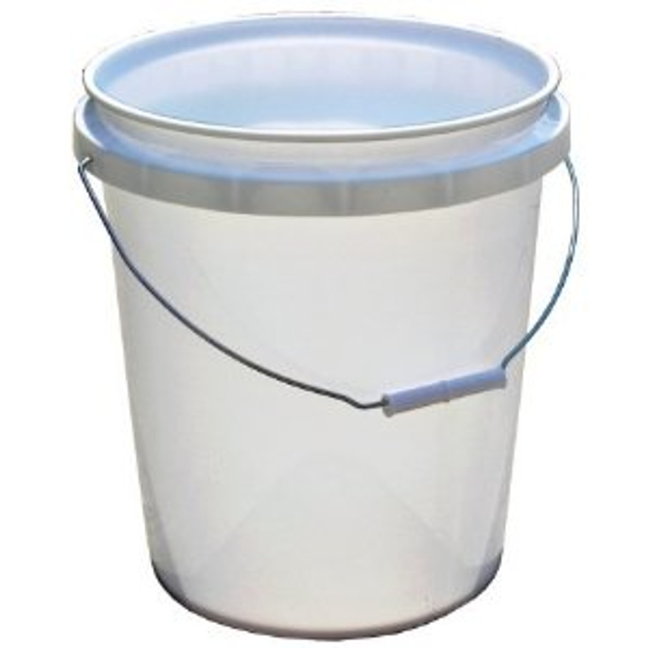 Pacoa White Plastic Pail with Cover