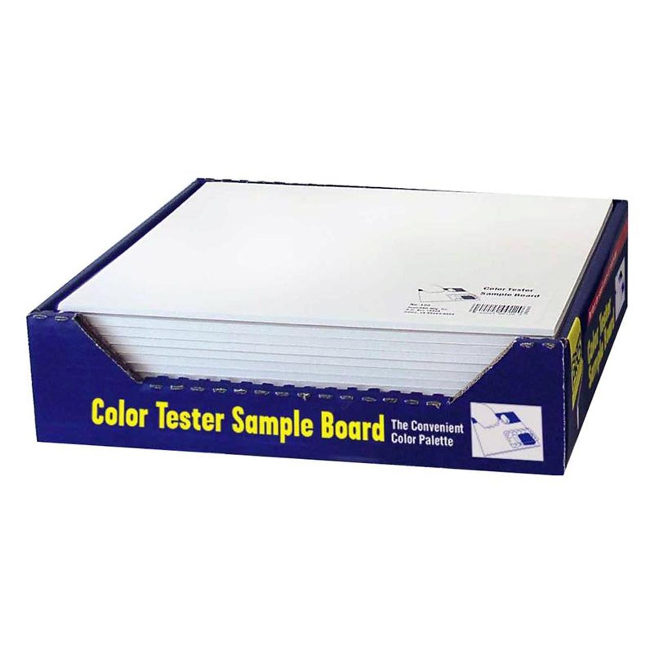 "FoamPro Color Tester Sample Board 10"" x 12"" Pack of 24"