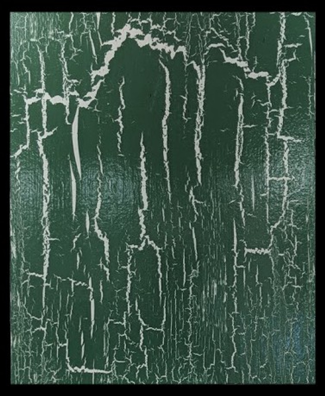 2 coats Cream Base Paint,  1 Isolation coat ( PV Decorators Varnish Satin) 1 coat Polyvine Crackle Glaze 1 coat Green Topcoat Protective Coat (PV Decorators Varnish Satin)