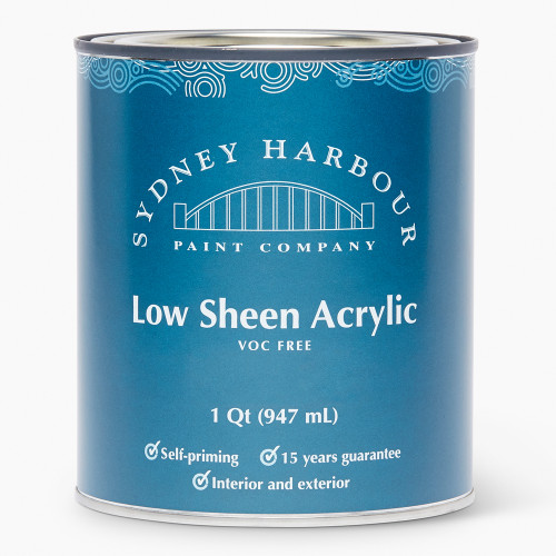 Sydney Harbour Premium Zero VOC Acrylic Paint Low Sheen Finish