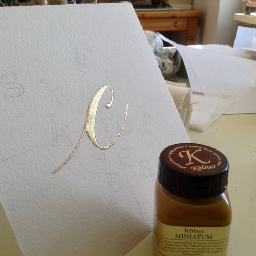 Kolner Miniatum Gold Size Yellow for Mirror Gloss Gilding on Paper 50ml