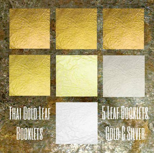 Thai Gold & Silver 5 leaf books.