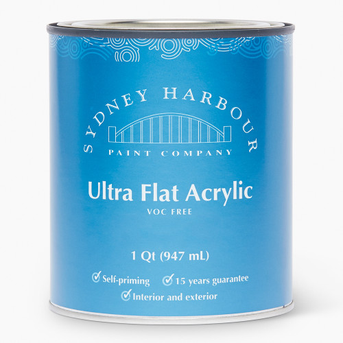 Sydney Harbour Premium Zero VOC Acrylic Paint Ultra Flat Finish