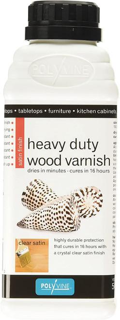Polyvine Heavy Duty Interior Wood Varnish Satin Finish