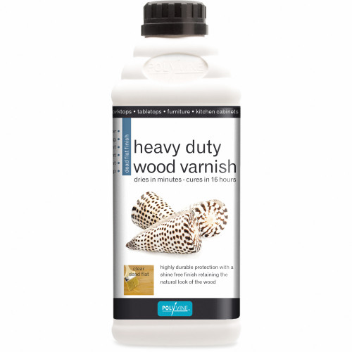 Polyvine Heavy Duty Interior Wood Varnish Dead Flat Finish
