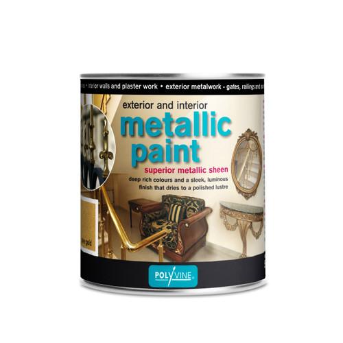Polyvine Interior Exterior Metallic Paint Silver