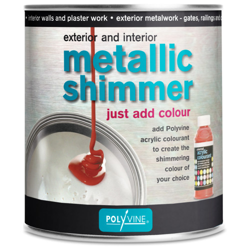 Polyvine Metallic Shimmer Pearlescent Interior Exterior Paint