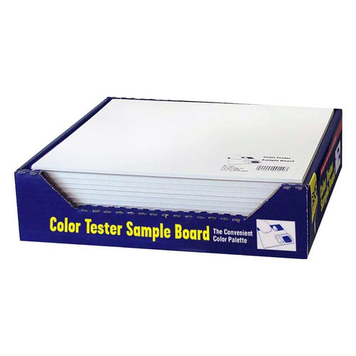 "FoamPro Color Tester Sample Board 10"" x 12"" Pack of 24"