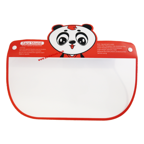 Birdielous Kids Panda Safety Face Shield (1 Pack) Full Face eyes nose mouth Protection Clear Visor double Side Anti-Fog