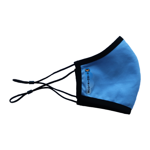 Birdielous 100% Cotton Cloth Face Mask (Blue)