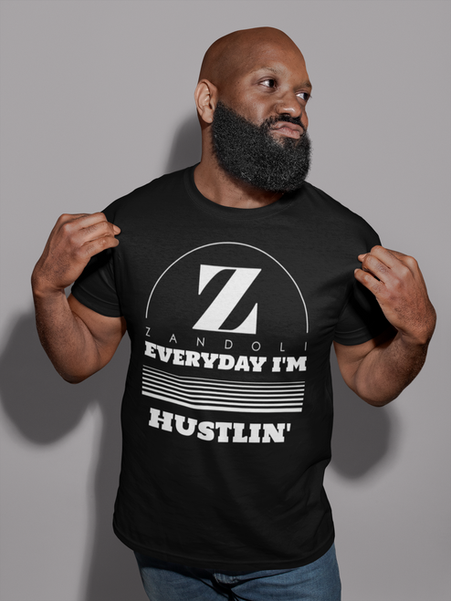 Every Day I'm Hustlin - Men's Black