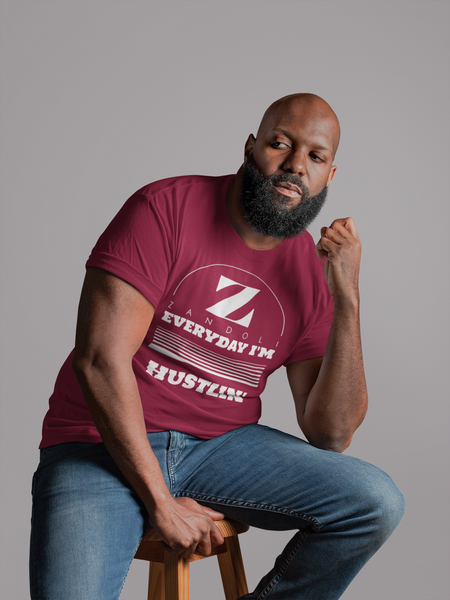 Every Day I'm Hustlin - Men's Burgundy