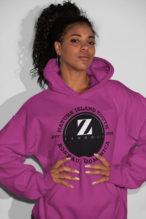Nature Island Youth Hoodie - Cerise
