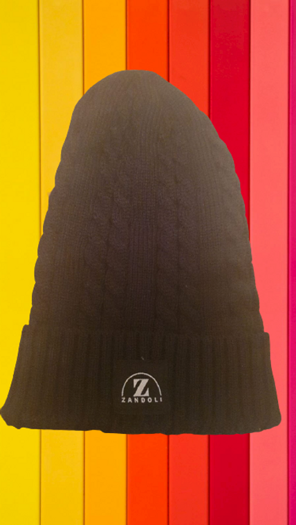 Slouch Cable Beanie Hat