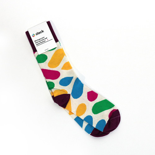 Slack Custom Crew Cotton Socks - Cream