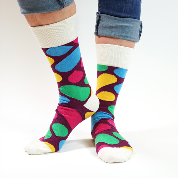 Slack Custom Crew Cotton Socks - Purple