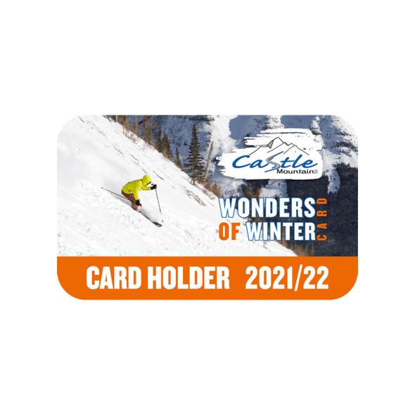 Wonders of Winter Card (Castle Mountain Resort, 2021-2022 Season)