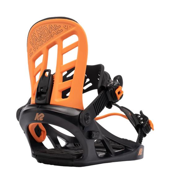 K2 Juniors Vandal Snowboard Bindings 2022 (Orange)