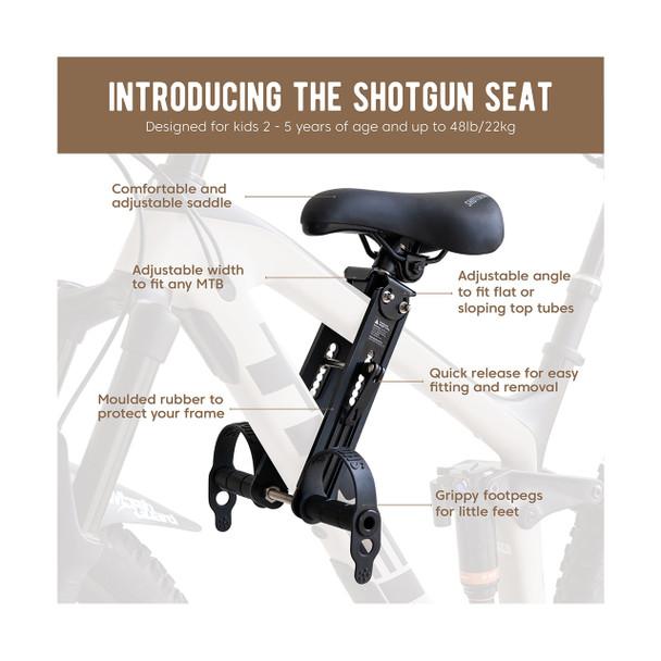 Shotgun Child Bike Seat Description