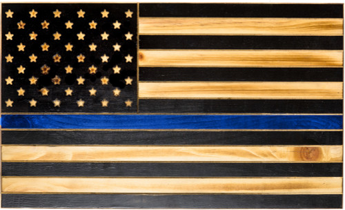 The Thin Blue Line Rustic Tactical Flag