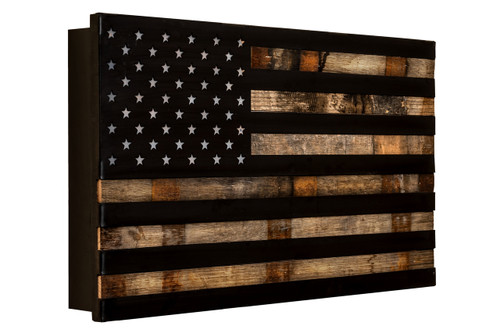 "The ""1791 Rebellion ""Whiskey Barrel Rustic Flag"