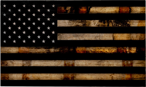 "The ""1791 Rebellion ""Whiskey Barrel Rustic Flag - Main"