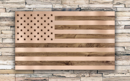 The Rustic Rosegold Tactical Flag