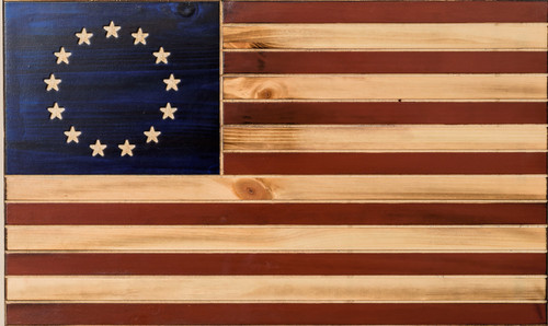 The Betsy Ross Rustic Tactical  Flag
