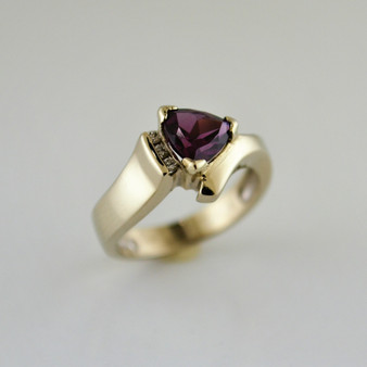 White Gold Rhodalite Garnet Ring
