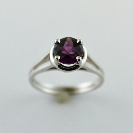 10K White Gold Rhodalite Garnet Ring