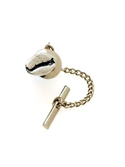 "The original ""Cool Beans"" coffee bean jewelry tie tack, cast in solid sterling silver, for the man who doesn't mind a little coffee on his tie! ""Cool Beans"" is a registered federal trademark. Design patent applied for."
