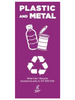 Plastic and Metal Recycling Container Label