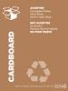"Cardboard recycling signage - 8.5"" x 11"""