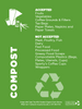 """Compost collection sign - 8.5"""" x 11"""""""