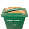 Hallway Recycling Bin for Mixed Paper - top view