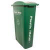 Hallway Recycling Bin for Plastic/Metal - angle view