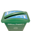 Hallway Recycling Bin for Office Paper - top view
